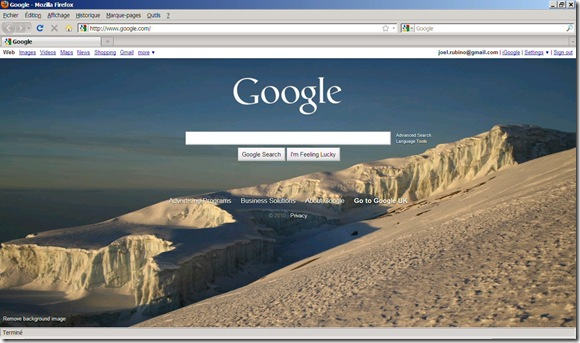 Google Background Firefox
