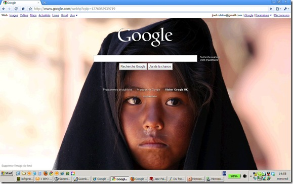 Google Background Chrome